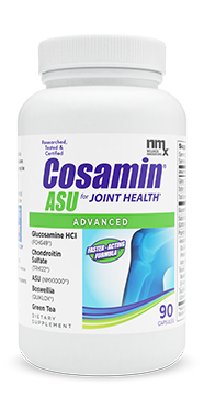 Cosamin® ASU. Advanced, Faster Acting Formula to Help Promote Joint Comfort*. Patented combination of ingredients to promote joint comfort*. Promotes a positive response associated with cartilage protection and joint comfort.