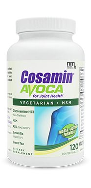 Cosamin® Avoca. Vegetarian Formula for Joint Comfort*. Shellfish free and gluten-free. Contains non-Shellfish Glucosamine HCl and MSM.