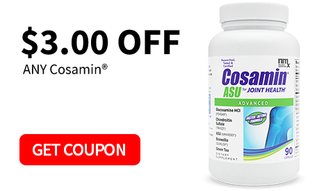Scientifically Proven to Help Promote Joint Comfort*. Click Here for Cosamin® Rebates.