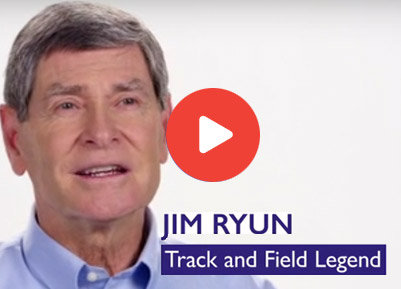 Cosamin® Success Story. Jim Ryun Track and Field Legend.